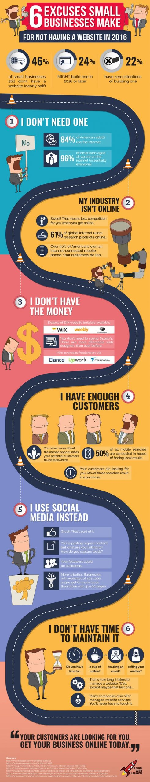 0595 01 excuses for not having a website infographic scaled