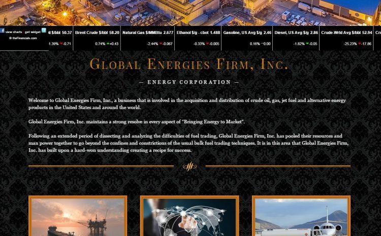 global energies firm web design