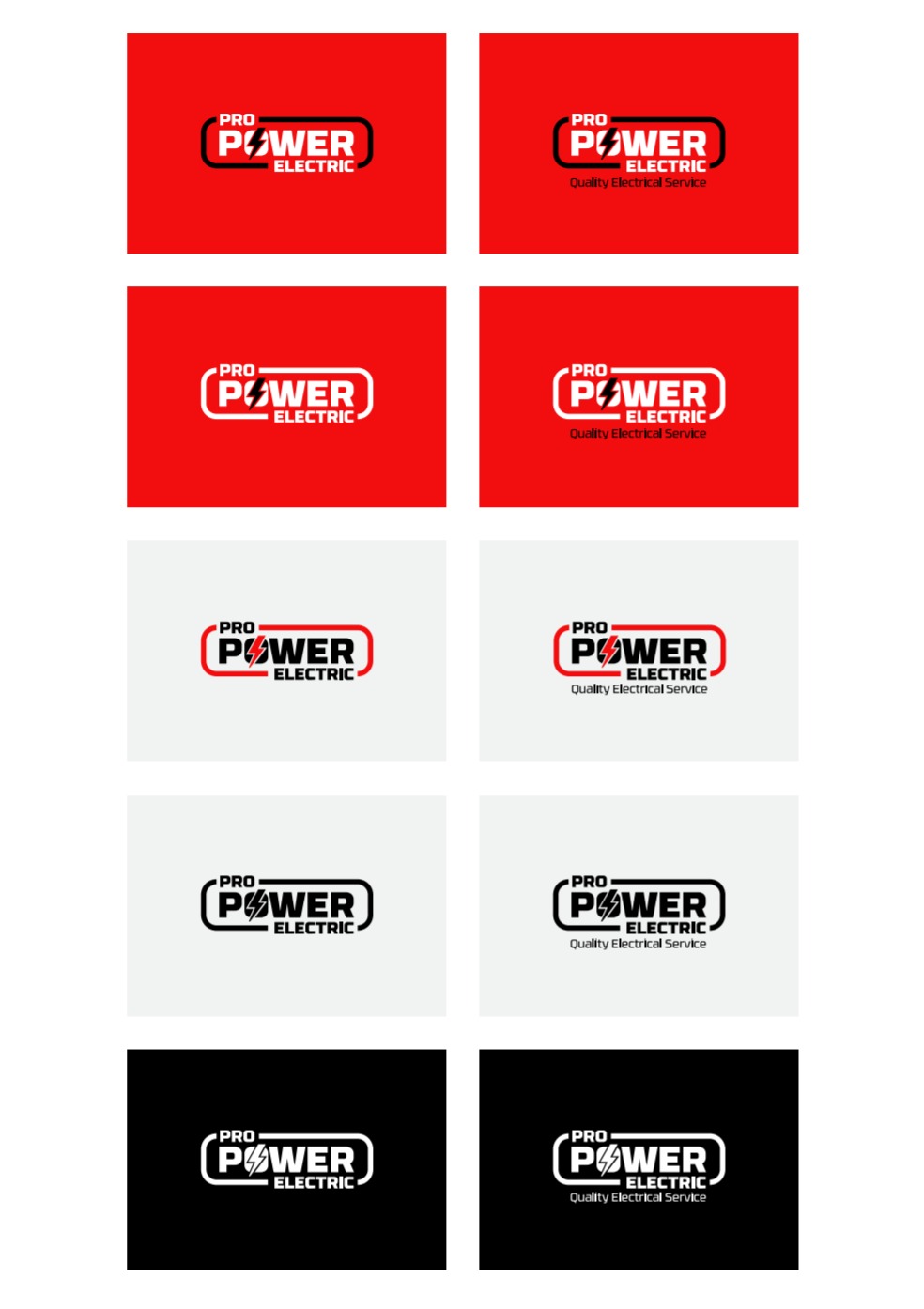 Pro Power Electric Branding